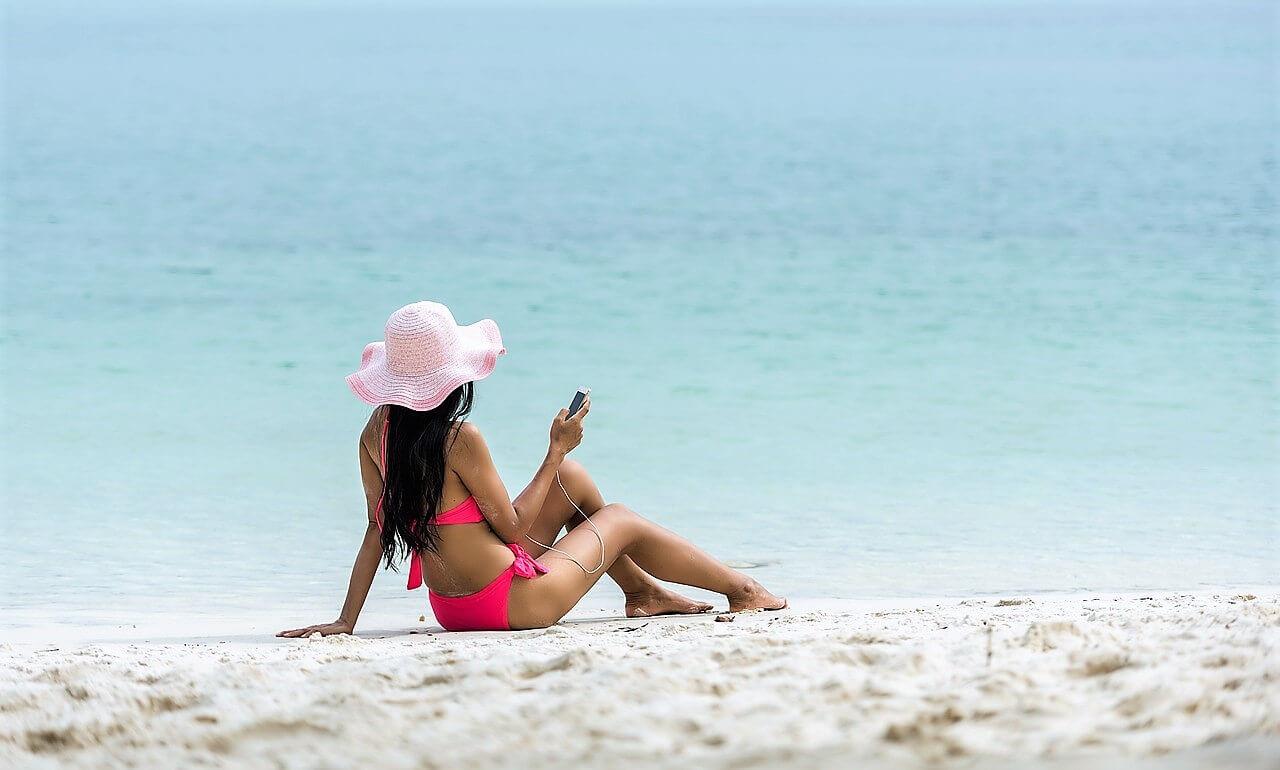 sahilde sosyal medya